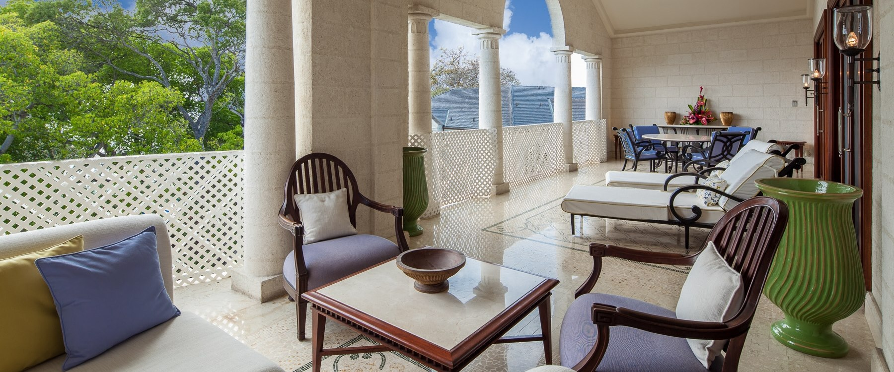 Penthouse Balcony at Sandy Lane, Barbados