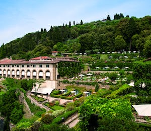 beautiful grounds of Belmond Villa San Michele, Florence