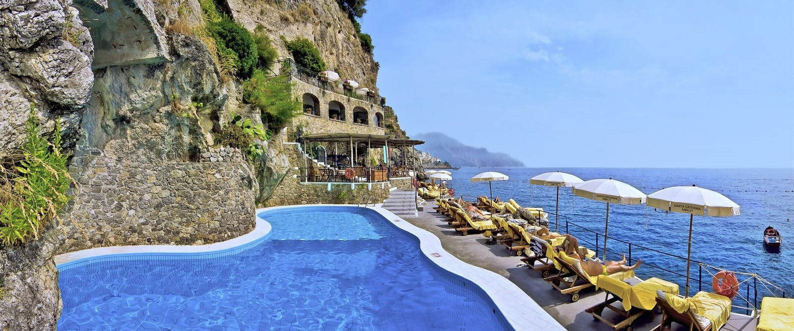 Pool at Hotel Santa Caterina, Amalfi Coast, Italy
