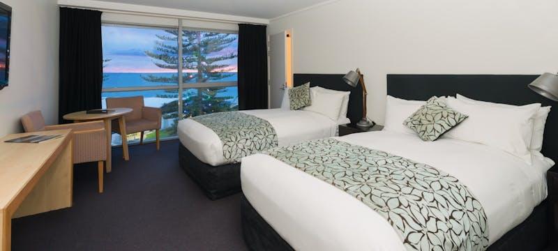 Double bedroom at Scenic Hotel Te Pania, Napier & Hawke's Bay