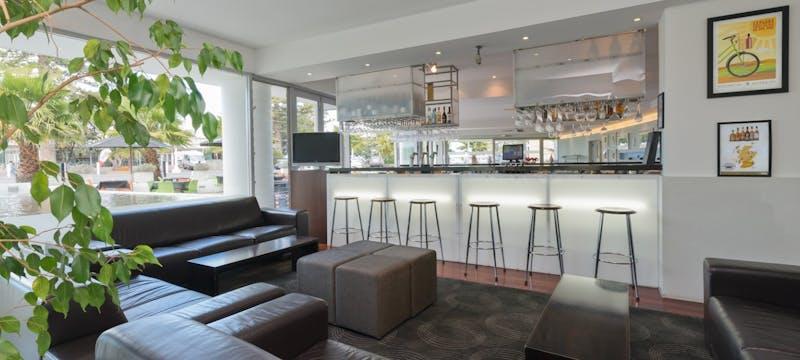 Bar area at Scenic Hotel Te Pania, Napier & Hawke's Bay