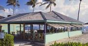 Ocean-side Sea Breeze Beach Bar at Nisbet Plantation Beach Club, Nevis