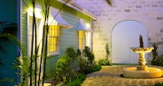 Entrance to spa and boutique at Cobblers Cove, Barbados