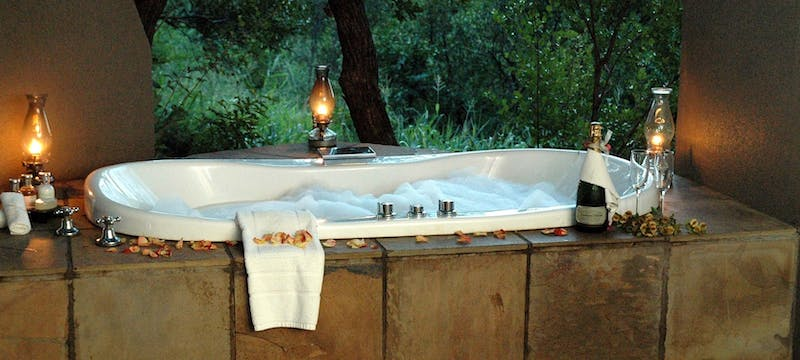 Jacuzzi at Sabi Sabi Selati Camp, South Africa