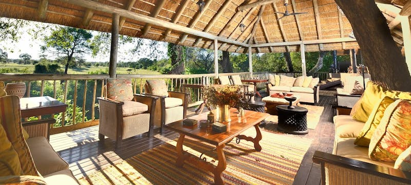 Pool side deck at Sabi Sabi Selati Camp, South Africa