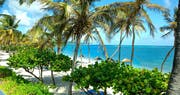 Scenic balcony view from beachfront guestroom at St James's Club & Villas, Antigua