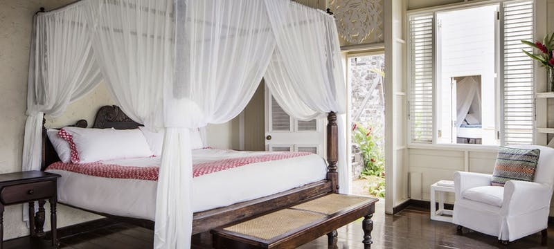 Studio cottage bedroom at Strawberry Hill, Jamaica