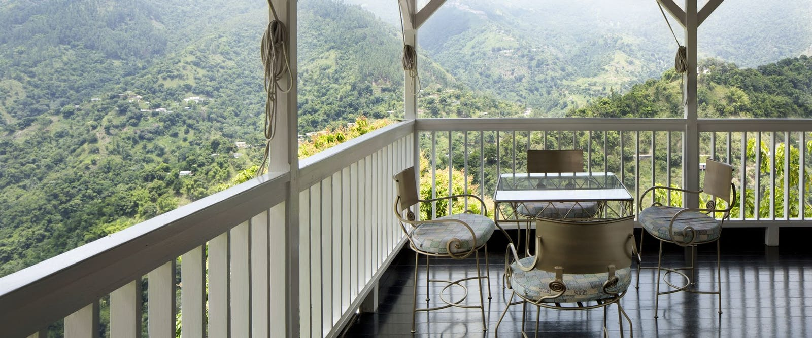 Dine on your private in room verandah at Strawberry Hill, Jamaica