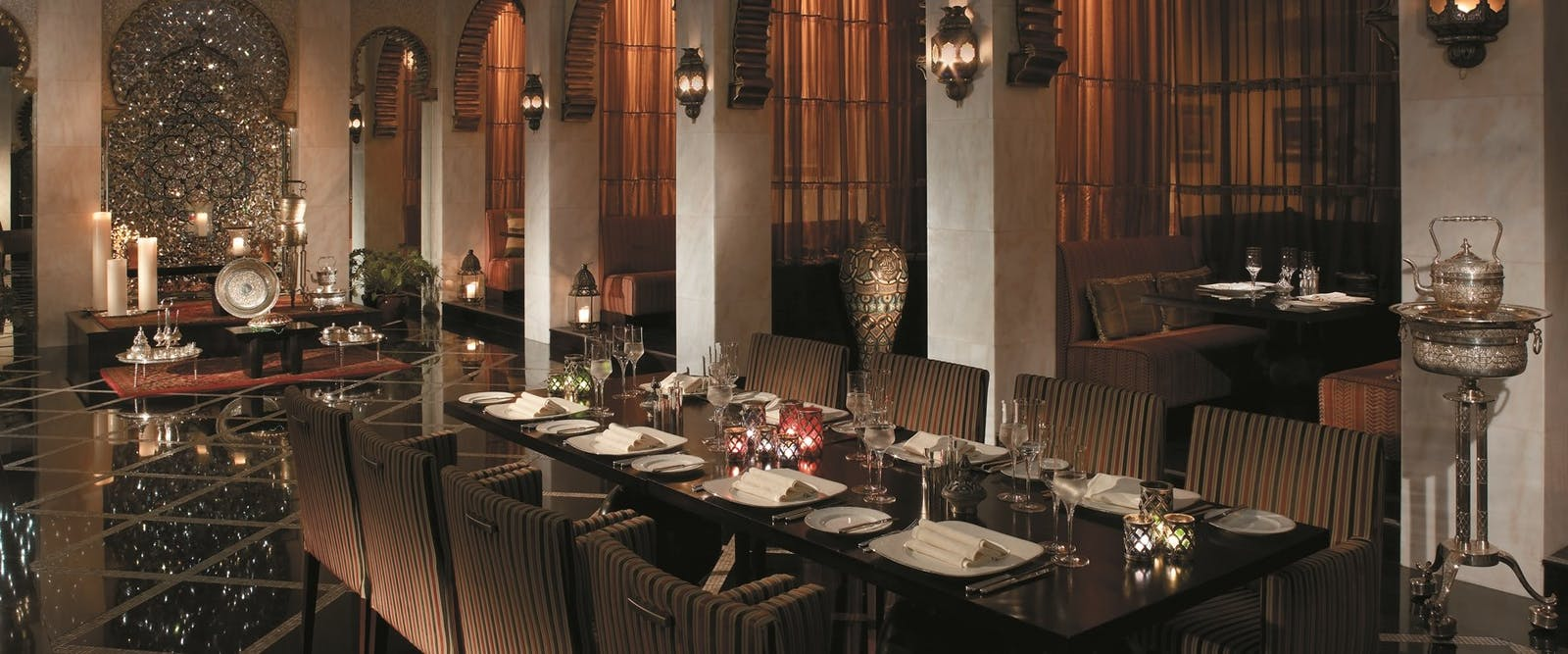 Shahrazard Morocco restaurant at Shangri-La's Al Husn Resort & Spa