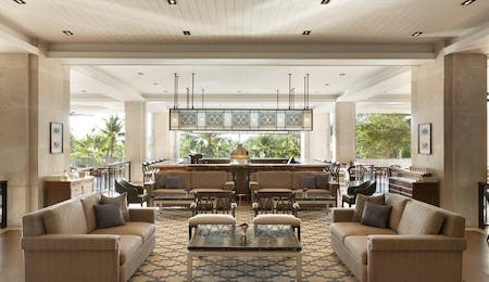 Lobby lounge at Shangri-La's Mactan Resort & Spa