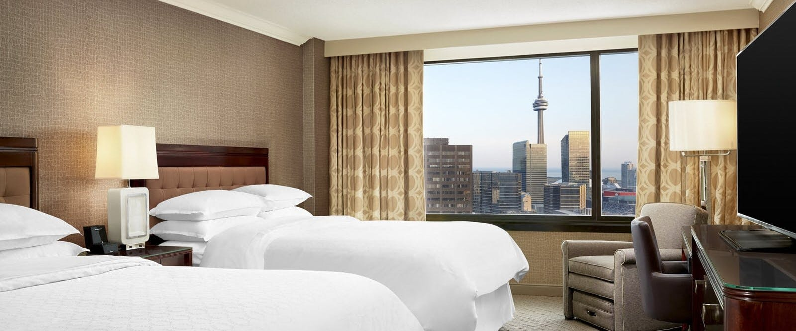 Double Bed Guest Room At Sheraton Centre Toronto Hotel