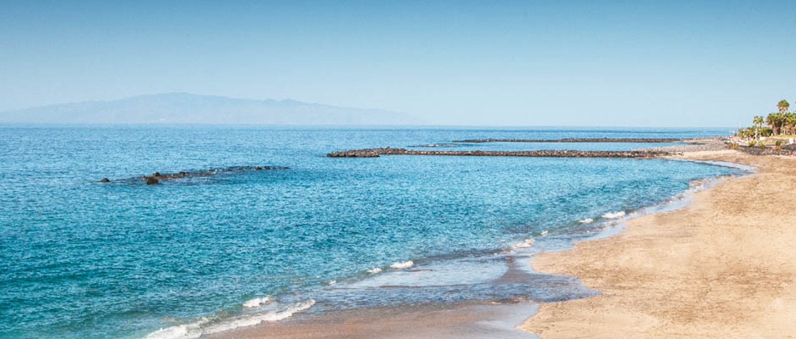 Beach view at Sheraton La Caleta Resort, Tenerife