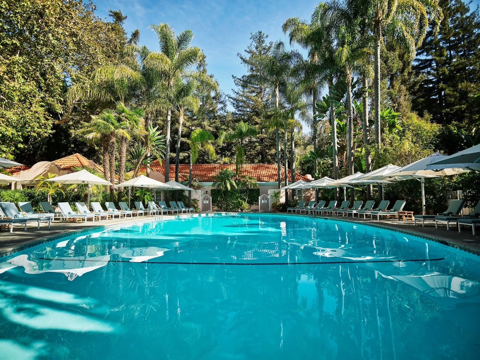 oval pool at hotel bel air