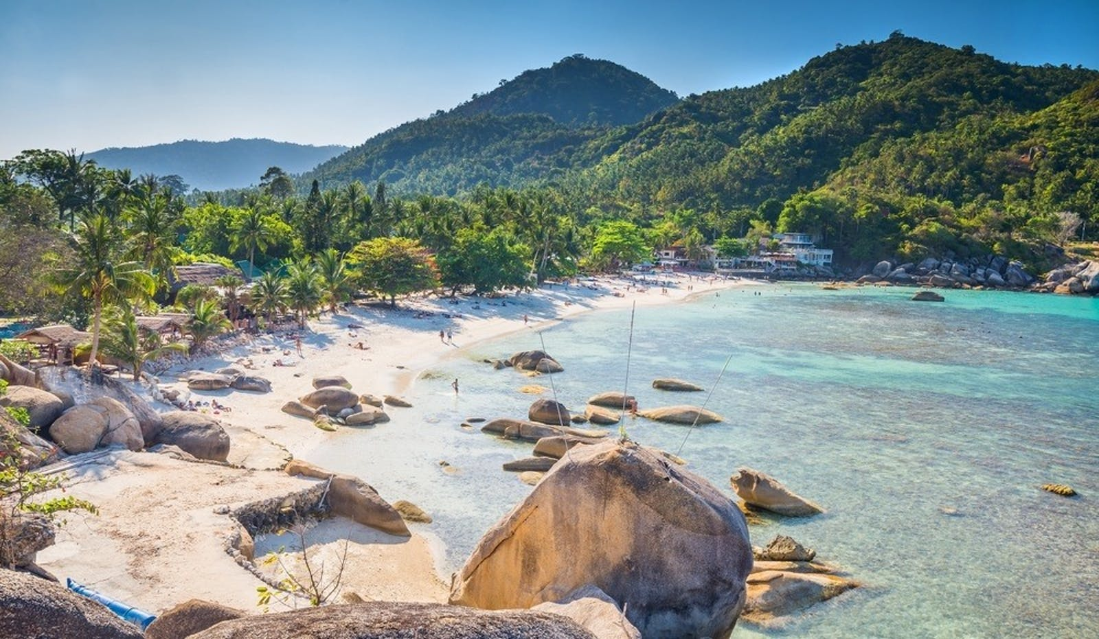 crystal beach beach view at koh samui island thailand