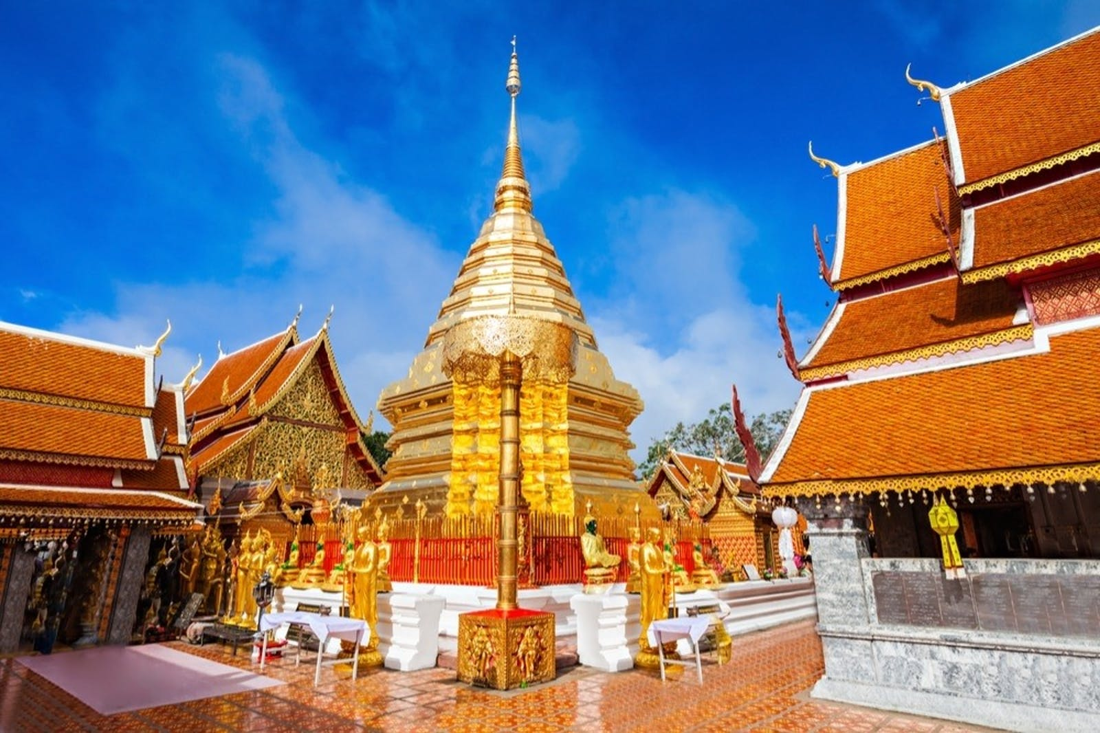 wat phra that doi suthep  buddhist temple near chiang mai thailand