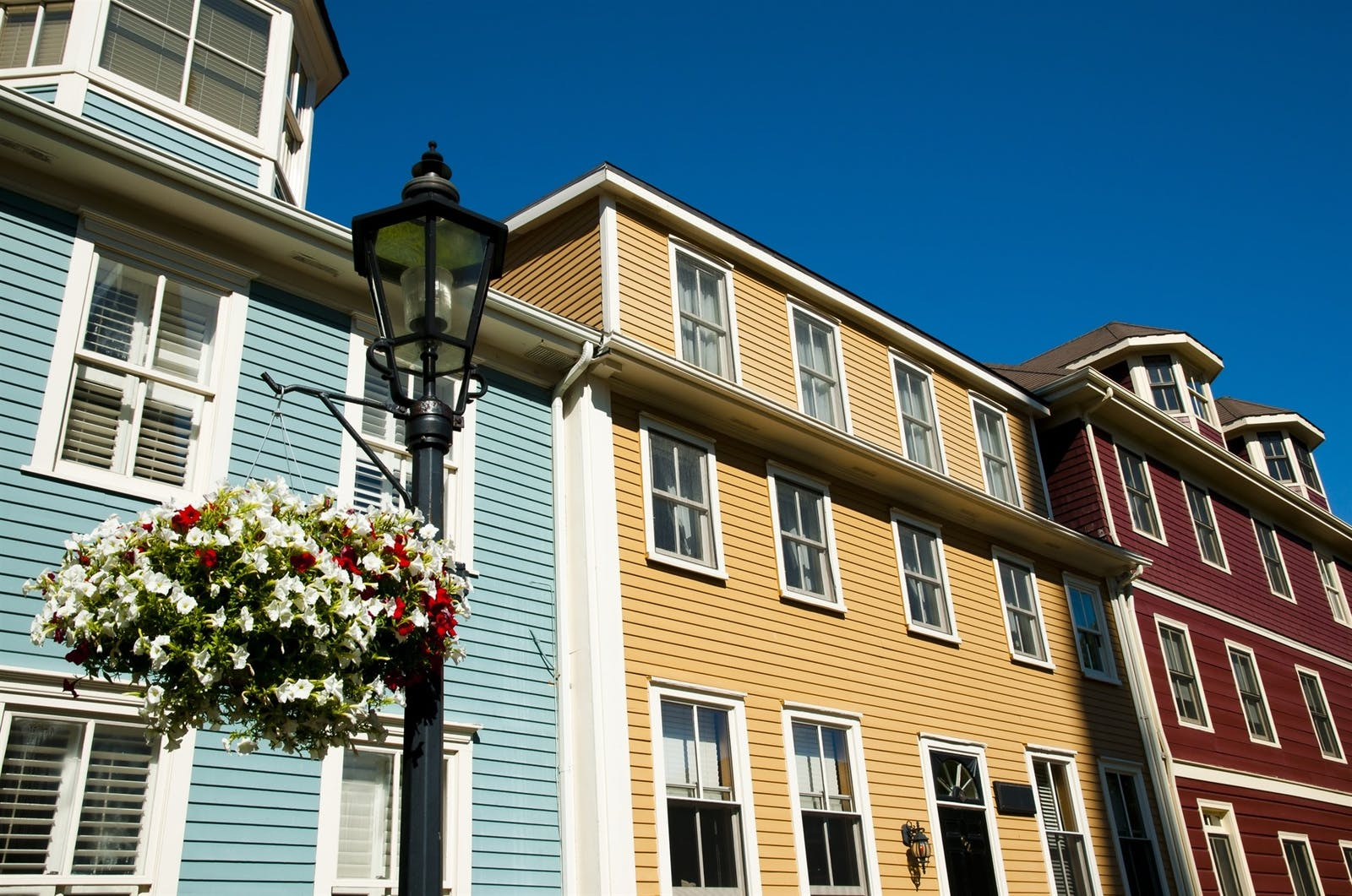 colorful buildings on great george st - charlottetown