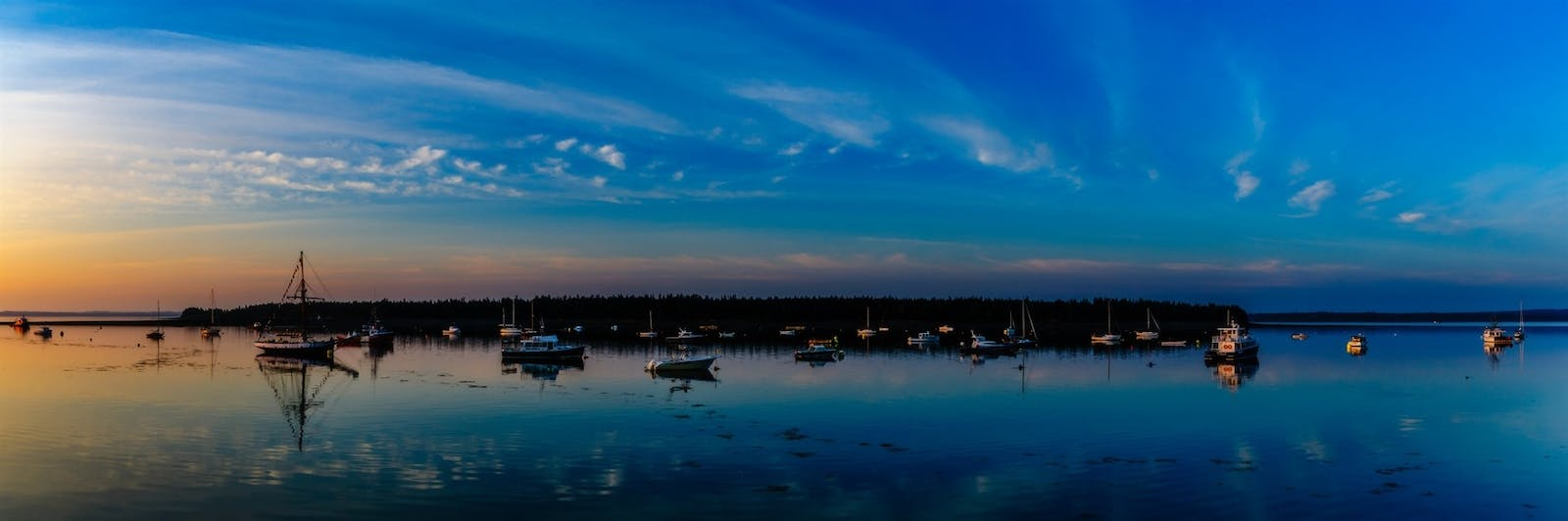 panoramic image of the harbor at st. andrews new brunswick