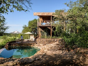 Lodge Exterior and Pool at Singita Faru Faru, Serengeti National Park, Tanzania, Africa