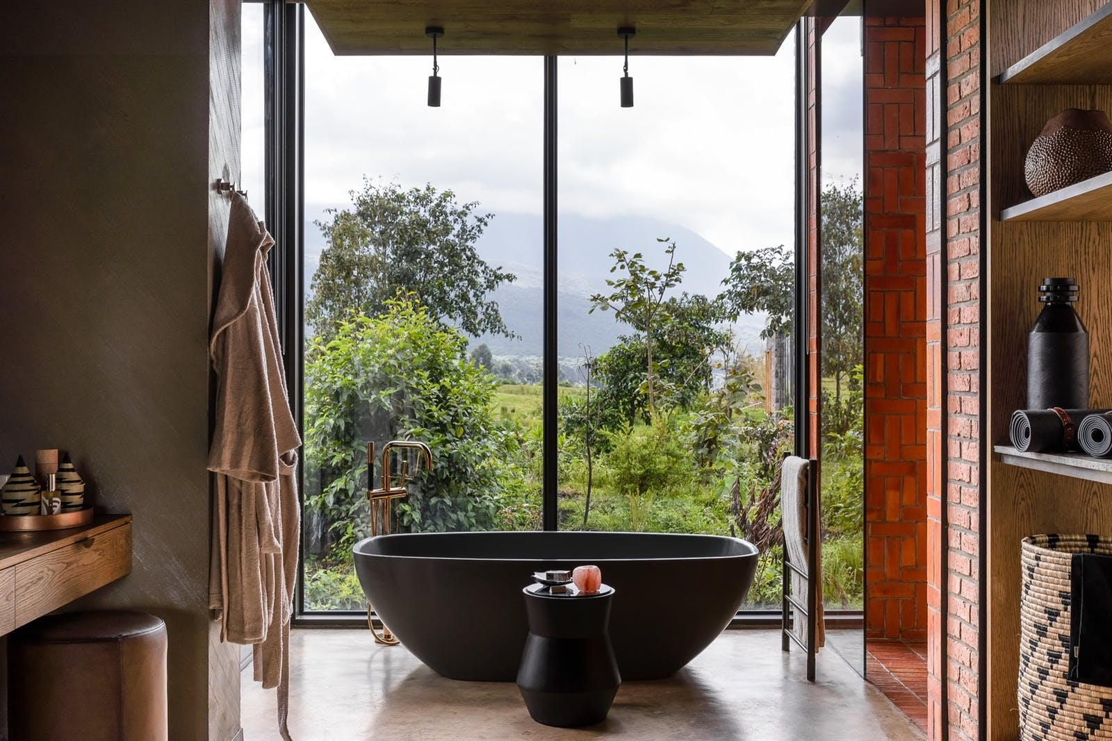Lodge Bathroom at Singita Kwitonda Lodge, Rwanda, Africa