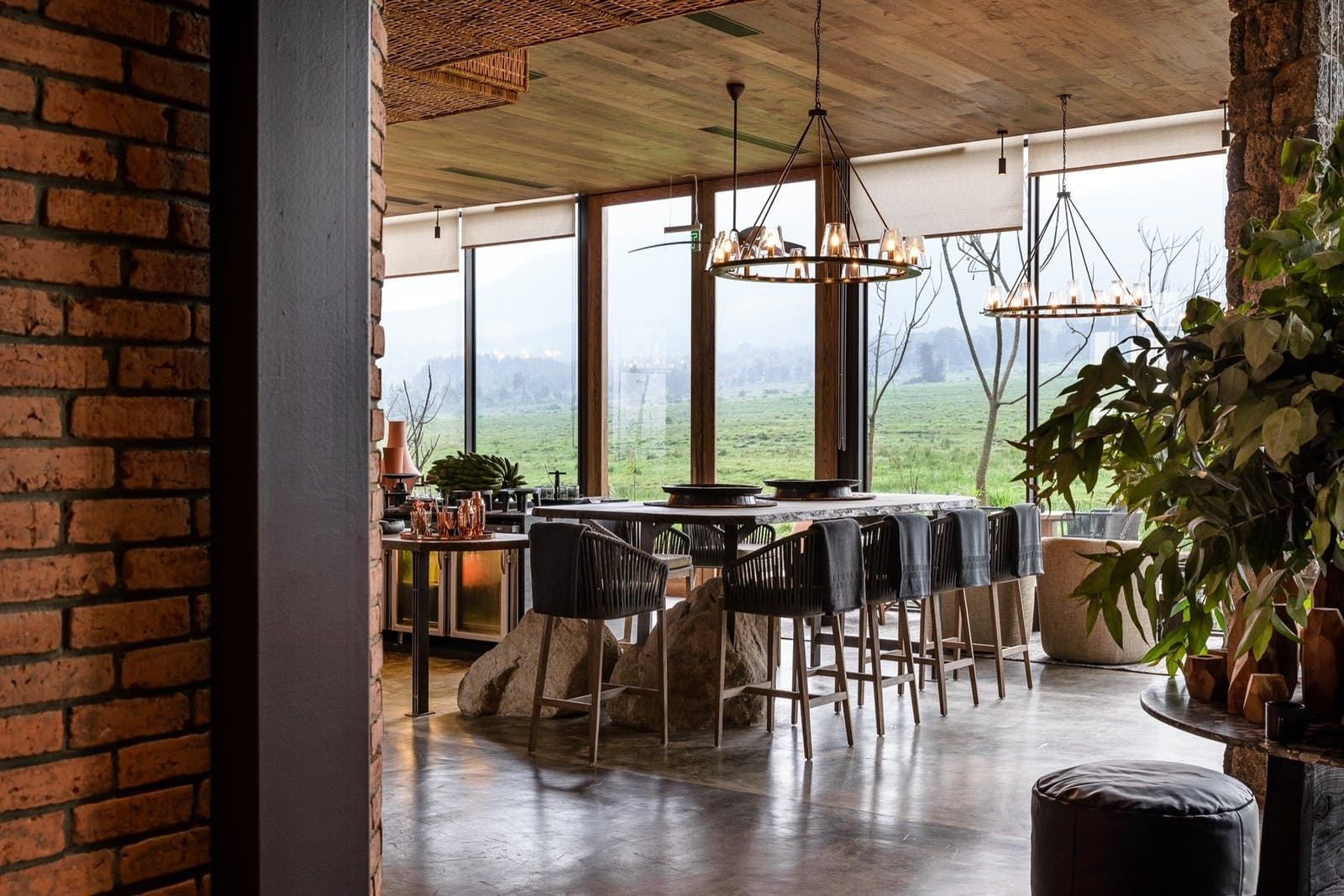Dining Area at Singita Kwitonda Lodge, Rwanda, Africa