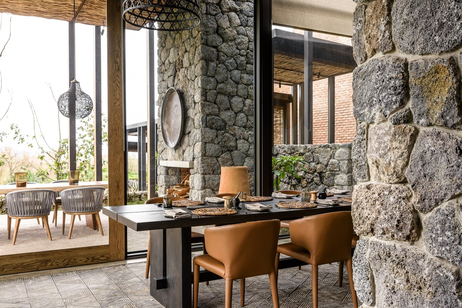 Lodge Dining Area at Singita Kwitonda Lodge, Rwanda, Africa