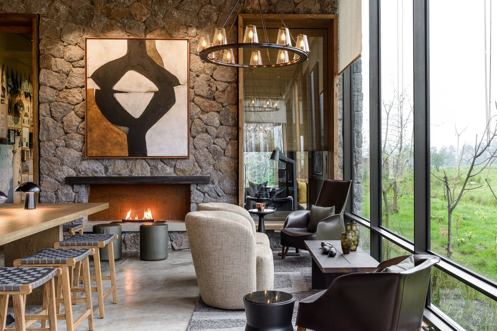 Four-bedroom Lounge Area at Singita Kwitonda Lodge, Rwanda, Africa
