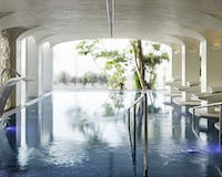 Six Senses Spa swimming pool at Nobu Marbella, Spain