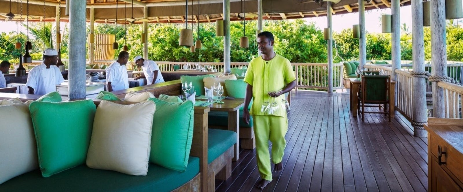 Leaf Restaurant at Six Senses Laamu, Maldives,  Indian Ocean