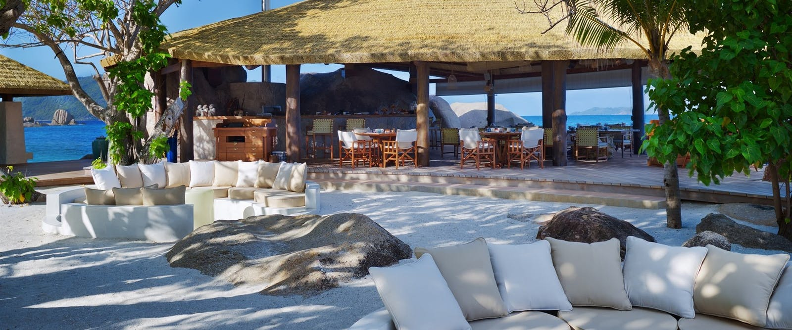 Relaxing outside at six senses zil payson seychelles