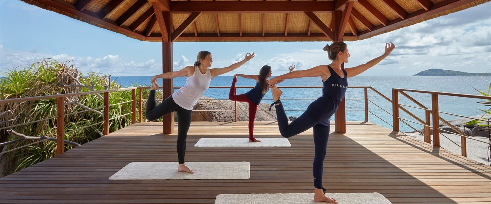 Yoga at six senses zil payson seychelles