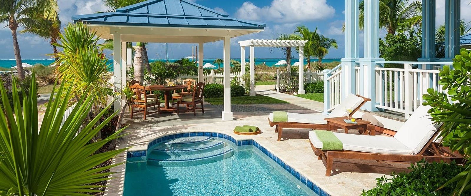 Key West Beachfront Four Bedroom Villa at Beaches Turks & Caicos Resort Villages & Spa