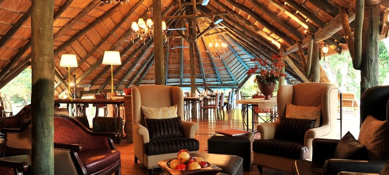 Lounge area at Selous Serena Camp