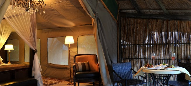 Luxury tent at Selous Serena Camp