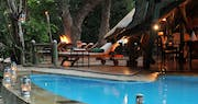 Pool area at Selous Serena Camp