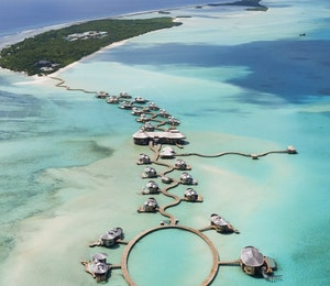 Aerial View of Soneva Jani, Maldives