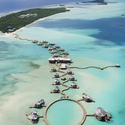 Aerial View of Soneva Jani, Maldives, Indian Ocean