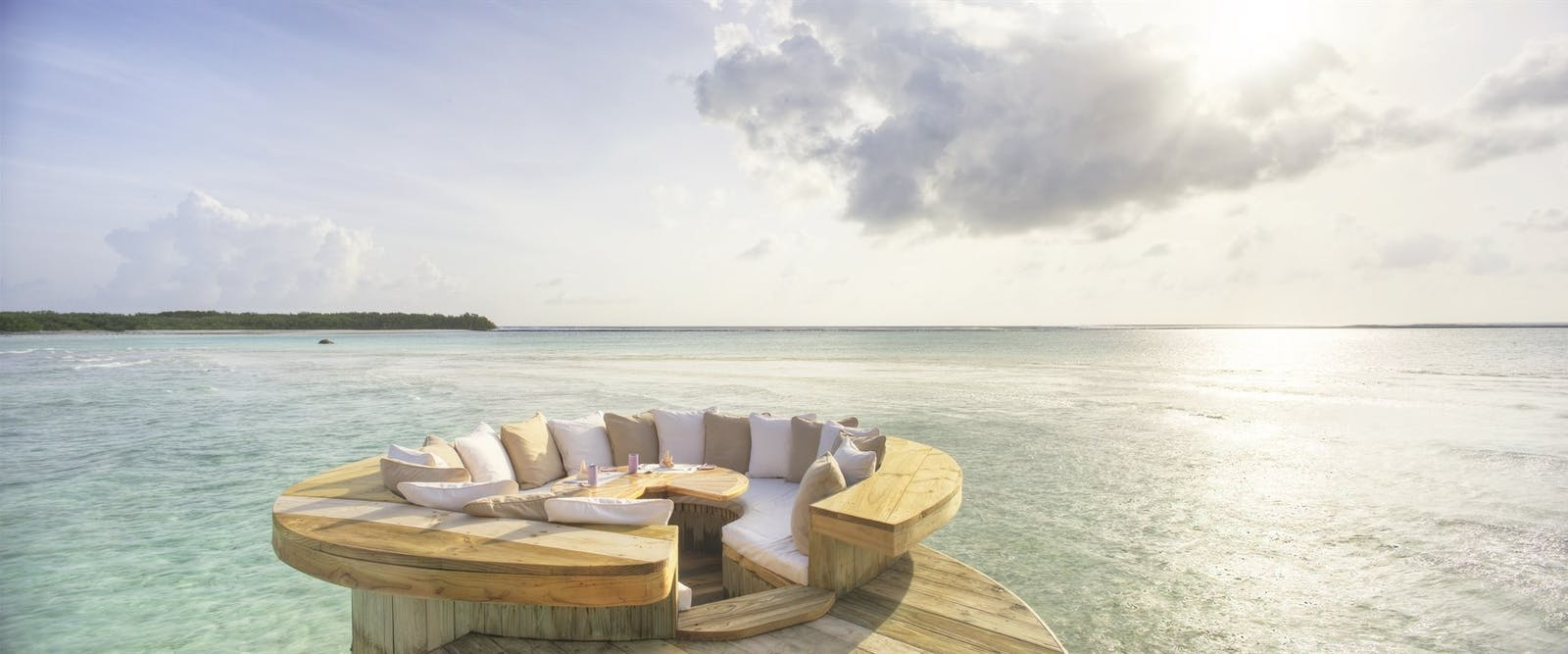 Three-Bedroom Water Reserve Sunken Seating at Soneva Jani, Maldives, Indian Ocean