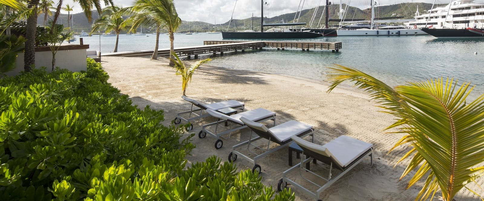 Sun Loungers Along the Beach at South Point, Antigua
