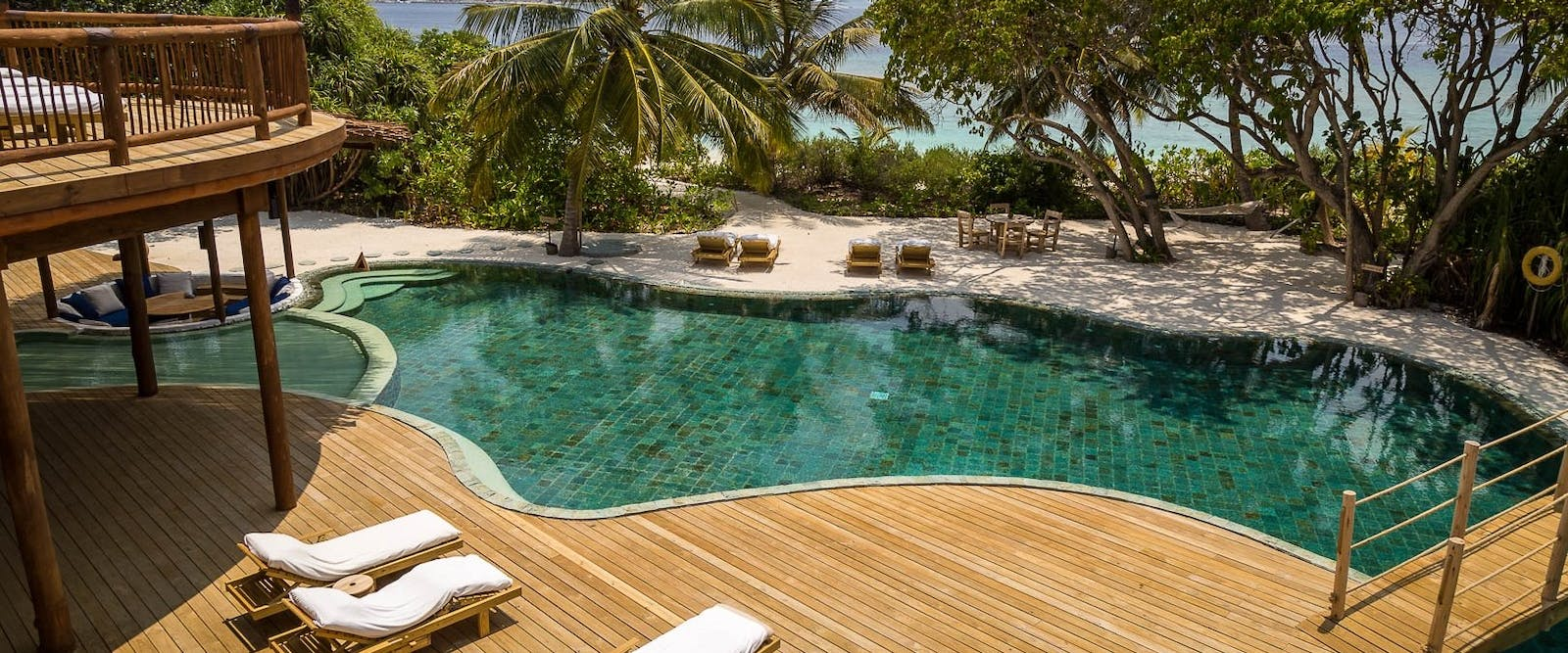Private Pool in Villa 42 at Soneva Fushi, Maldives, Indian Ocean