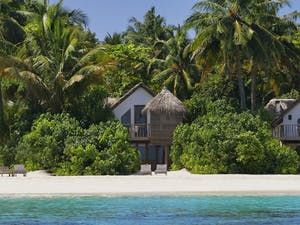 Overview of Soneva Fushi Villas, Maldives, Indian Ocean