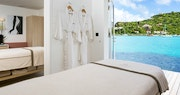 Spa treatment table overlooking the ocean at Eden Rock, St Barths