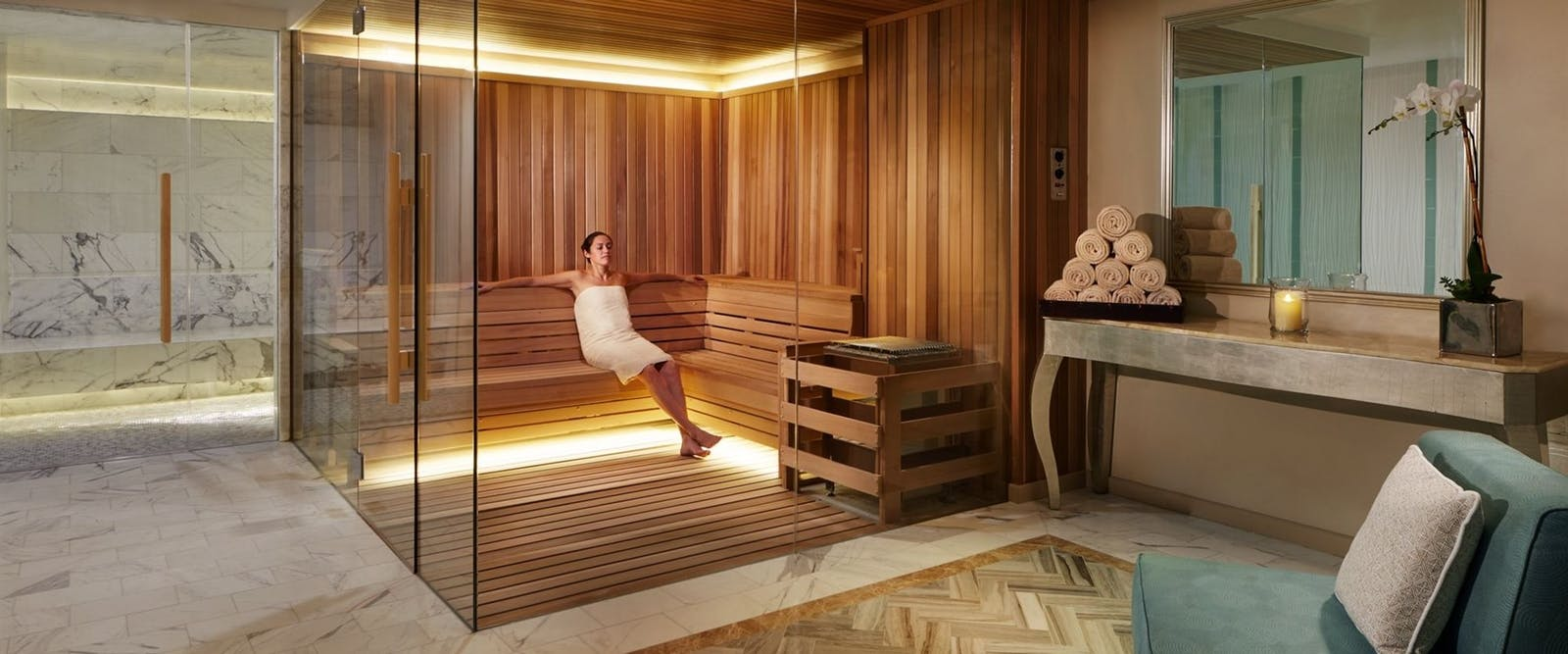 spa steam room and sauna