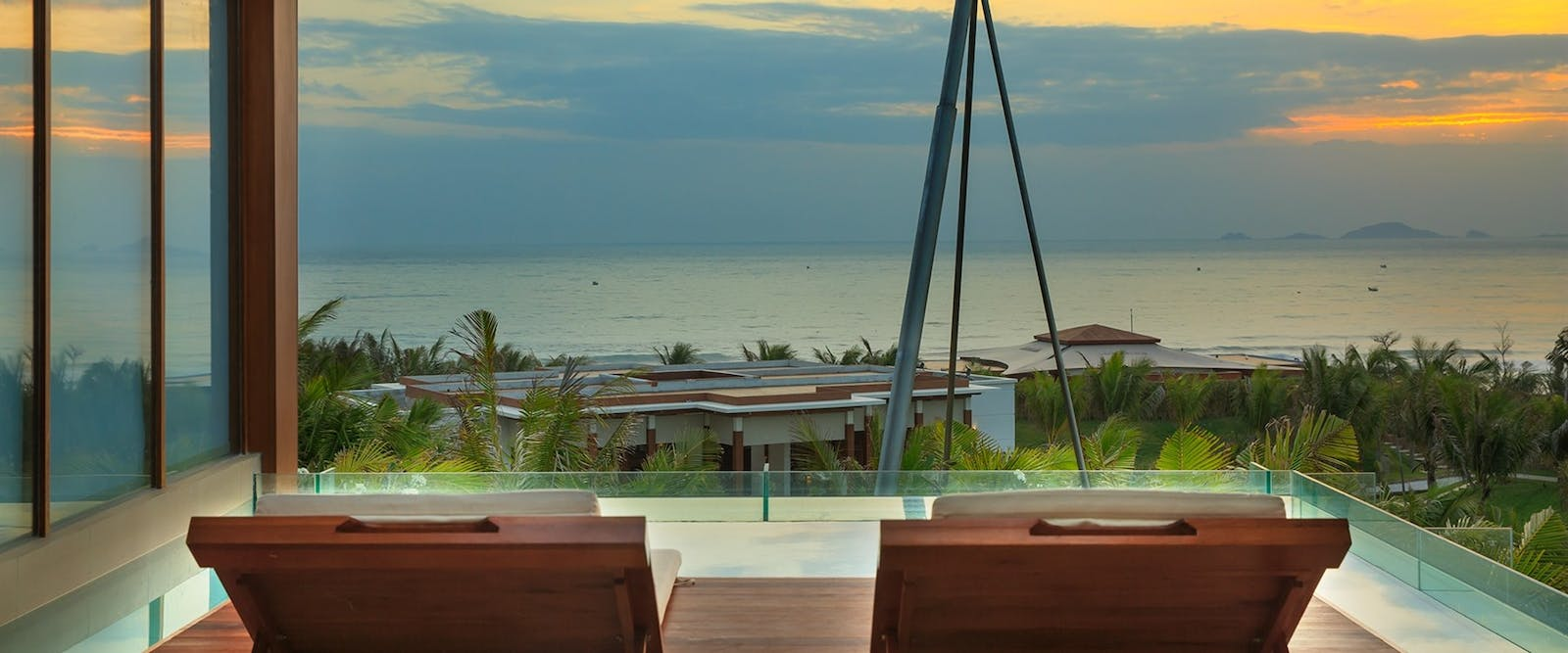 Spa suite outside lounge area at Fusion Resort Nha Trang