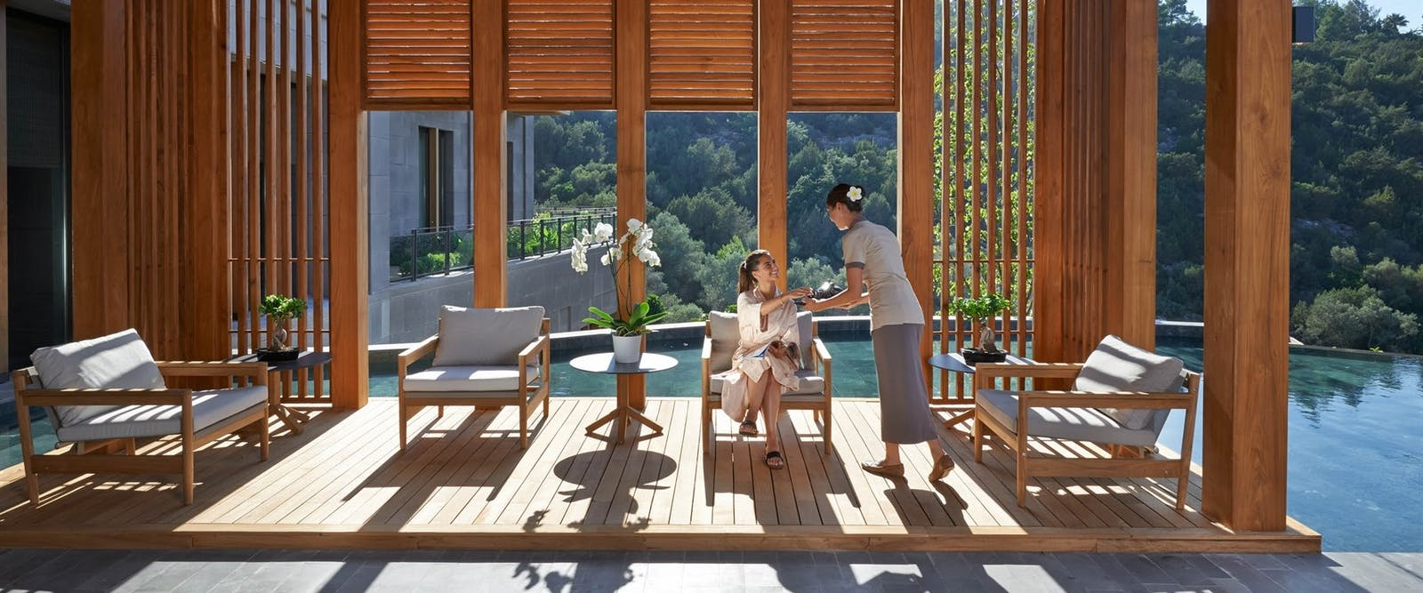 Spa Tea Lounge, Mandarin Oriental Bodrum, Turkey