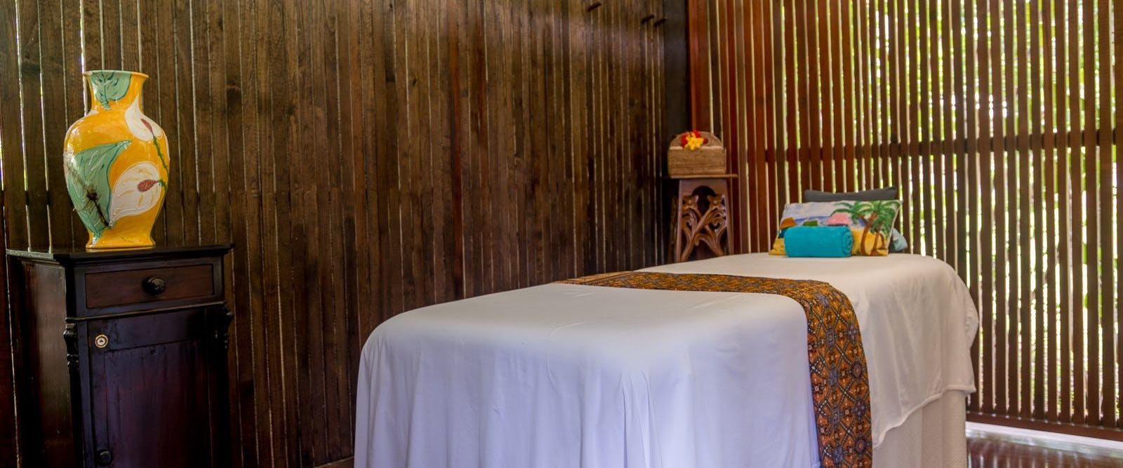 Spa treatment room at East Winds, St Lucia