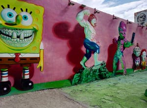 Spongebob Squarepants Graffiti at Wynwood Halls