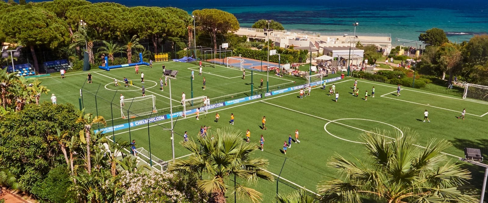 Football and Basketball Sports Field at Forte Village Resort, South Sardinia, Italy