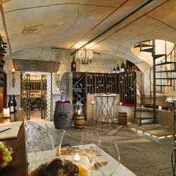 Wine cellar at St. Regis Grand Hotel Rome