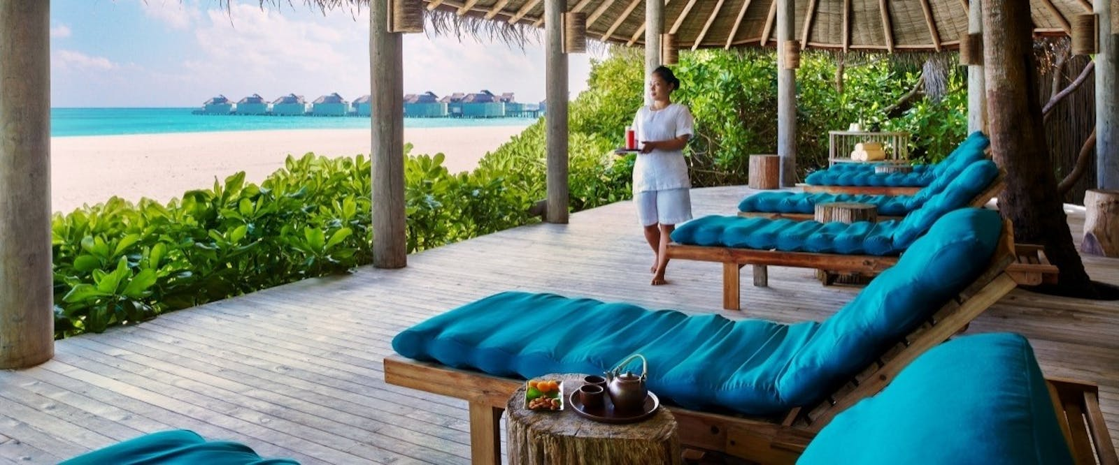 Spa Relaxation Lounge at Six Senses Laamu, Maldives, Indian Ocean