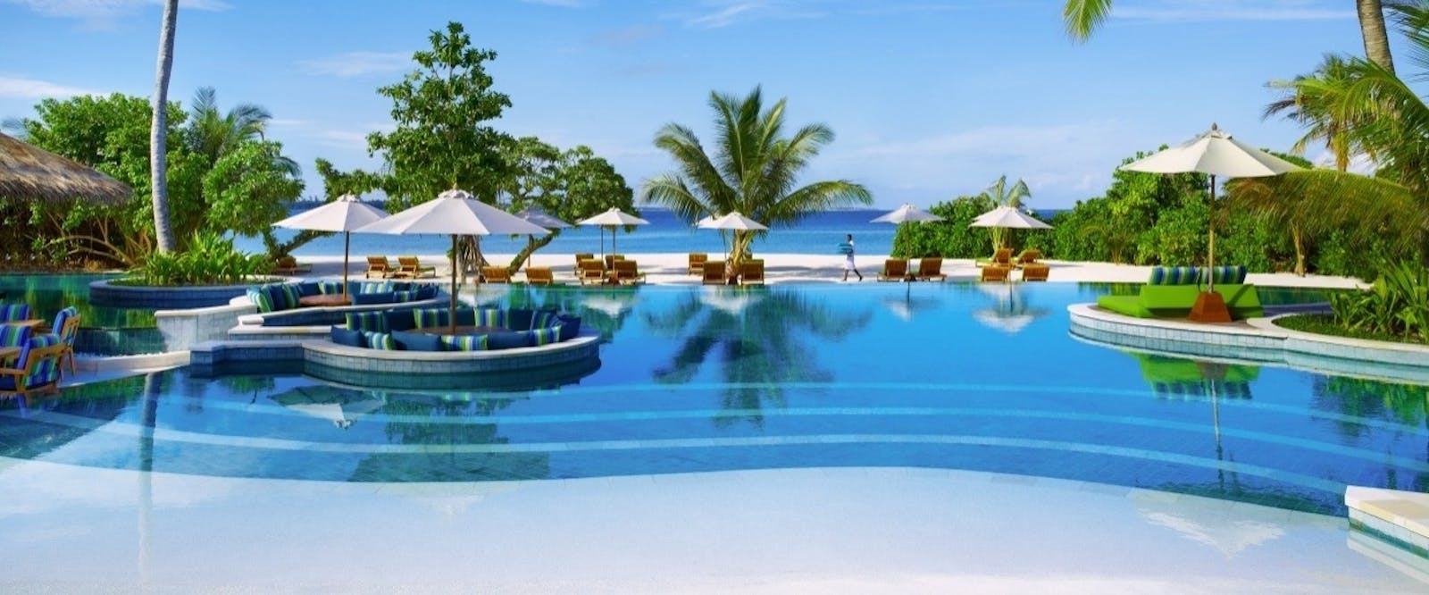 Swimming Pool at Six Senses Laamu, Maldives, Indian Ocean